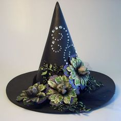 67f88060a83 Fabulous witch hat by Pink Penny Designs. Halloween Fashionista Fabulous  Witches Theme Party  amp