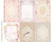 Victorian Wallpaper Tags Instant Download no.12 by tatteredvintage