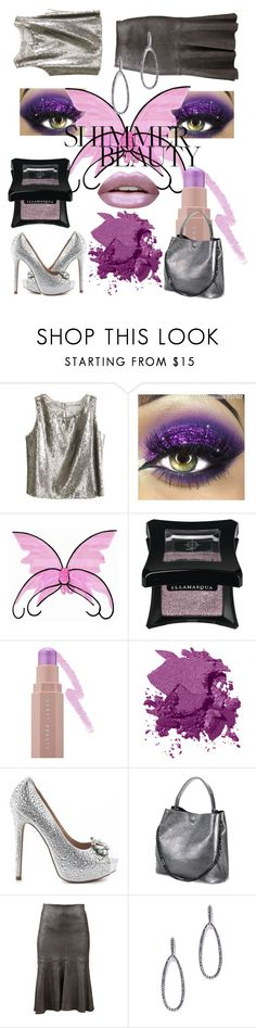 """Shimmer Beauty"" by mdfletch ❤ liked on Polyvore featuring beauty, Little Wardrobe London, Puma, Bobbi Brown Cosmetics, Lauren Lorraine, Brunello Cucinelli, New York & Company, Huda Beauty and shimmerbeauty"
