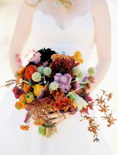 Fall bouquet: http://www.stylemepretty.com/california-weddings/napa-valley/2009/10/21/jessica-claires-wedding-by-jose-villa/ | Photography: Jose Villa - http://josevillablog.com/