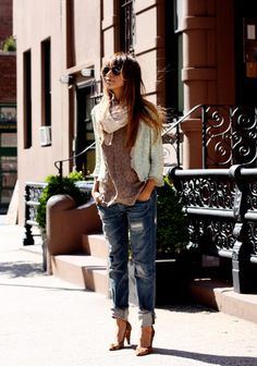 On The street casual chic...I want to put this together!