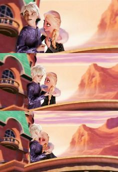 Jack and Elsa Olaf's Frozen aventure Jelsa 2018 Jelsa, Jack Y Elsa, Jack Frost And Elsa, Sailor Moon Background, Elsa Olaf, Nyan Cat, In And Out Movie, Disney Jokes, Disney Couples