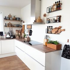 Atsuko Corner Bamboo Shelf – Sues Home KitchenNaturally, there's absolutely nothing incorrect with including trends into your kitchen design but ensur Kitchen Furniture, Kitchen Interior, New Kitchen, Kitchen Decor, Feng Shui Colores, Kitchen Soffit, Bamboo Shelf, Küchen Design, White Decor