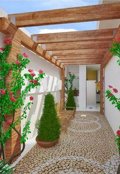 15 Minimalist Backyard Design During The Winter to Mesmerize You - Top Inspirations Backyard Patio, Backyard Landscaping, Decoration Plante, Side Garden, Landscaping Supplies, Yard Design, Small Gardens, Garden Projects, Exterior Design