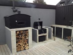 Havekøkken Outdoor Kitchen Grill, Bbq, Backyard, Patio, Build Your Own, Home And Living, Stove, Grilling, Home Appliances