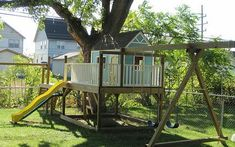 Make this the year you build your own Playhouse! Free #Plans at Ana-White.com