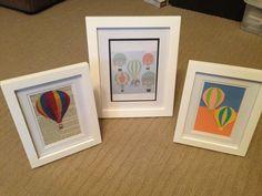 DIY nursery decorations. Hot air balloon theme!
