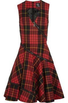 McQ Alexander McQueen Tartan wool dress