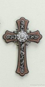 New Embellished w Jewels Wall Cross Faux Leather Western Decor Plaque Accent Wooden Crosses, Crosses Decor, Wall Crosses, Sign Of The Cross, The Cross Of Christ, Celtic Cross Tattoos, Old Rugged Cross, Cross Art, Country Crafts