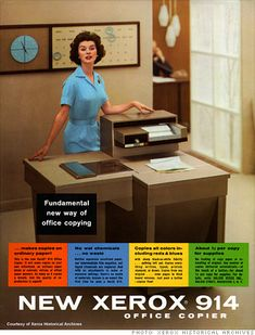 Early Xerox Ad. Image: Xerox historical archives