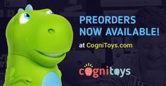 The engaging and educational CogniToys Dinos are now available for pre-order! Powered by IBM Watson, CogniToys are the next generation of internet-connected smart toys that learn and grow with your child.