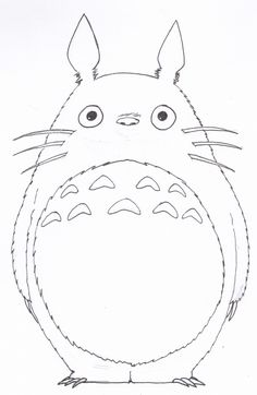 coloring. totoro coloring pages | coloring sheets | pinterest | totoro - Neighbor Totoro Coloring Pages