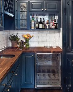 Break Out the Paint: Blue Kitchens Are Très Chic Right Now #RueNow