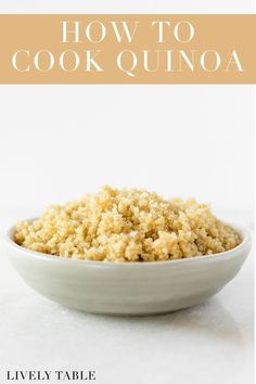 Learn how to cook perfect, fluffy quinoa on the stove, plus everything else you ever wanted to know about this healthy, quick-cooking grain. Healthy Eating Habits, Healthy Cooking, Cooking Tips, Fruit And Vegetable Storage, Vegetable Recipes, Healthy Side Dishes, Side Dish Recipes, Healthy Gluten Free Recipes, How To Cook Quinoa