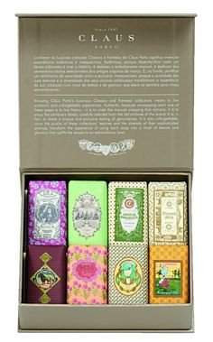 Platinum Mini Soap Gift Box | Claus Porto | Classico Fantasia Collection.