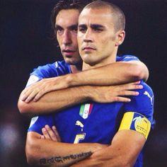 Fabio Cannavaro and Andrea Pirlo Italy national football team