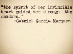 Gabriel Garcia Marquez. Words needed after this week for sure