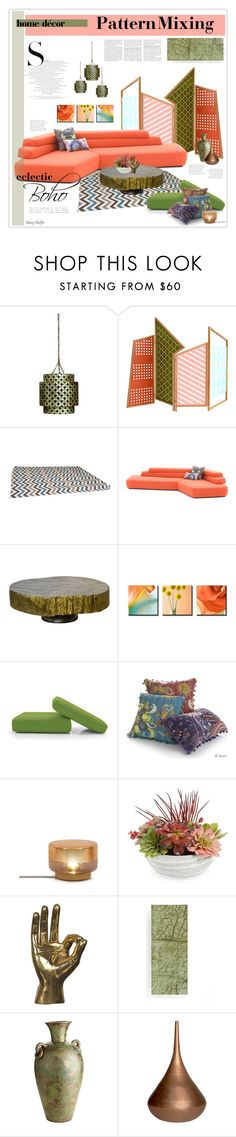 """""""Eclectic Boho - Pattern Mixing"""" by mcheffer on Polyvore featuring interior, interiors, interior design, home, home decor, interior decorating, Jamie Young, MOROSO, Madera Home and Joybird Furniture"""