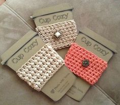 Crochet cup cozy & make cup template to sell.