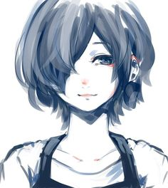 Kirishima Touka doe. The art that Ishida Sui put in the end for chapter covers is beautiful like hot damn: