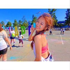 THINK BLUE: The Color Run Sooo exciting ;) .. #colorrun #thecolorrun #color #run #losangeles #dodgerstadium #california #LAlife #colorful #happy #smile #me #exciting #fun #running #happiest #blue #nice #sunnyday  #カラーラン #ラン #カリフォルニア #楽しい #カラフル #カラー #一生で最後の髪型 #走ってない #色走 by ikuko_0711