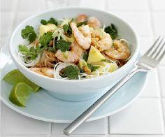 Low FODMAP Recipe - Shrimp rice noodle salad:  http://www.ibssano.com/low_fodmap_recipe_shrimp_rice_noodle.html