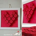 Heart art made from egg cartons - Bulgarian website that has some fantastic printables and activities
