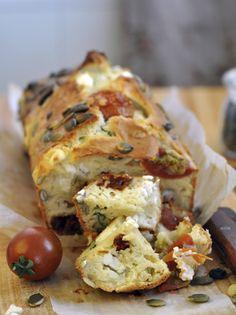 sun-dried tomato and feta loaf