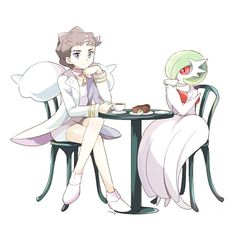 Diantha and Gardevoir -- aww, that's adorable!