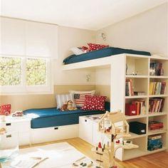 Ladder on side end of bookshelf
