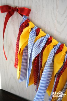 Dorothy Wizard of Oz Fabric Tie Garland