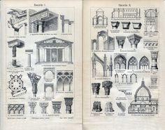 Ornate Columns Windows  Architecture 2 by AntiquePrintsAndMaps, $9.00