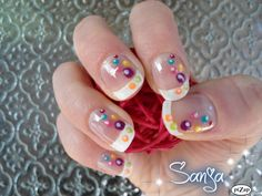Colored bubbles on French