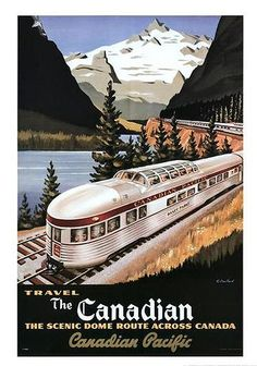 Canadian Pacific #train #canada #poster #vintage