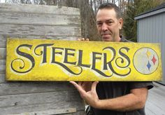 Pittsburgh Steelers Sign original hand by ZekesAntiqueSigns, $85.00