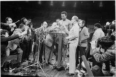 Muhammad Ali, balança, Ali x Frazier, 1971, Madison Square Garden (Foto: Herb Scharfman/Sports Imagery/Getty Images)