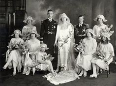 Lord and Lady Mountbatten with the Prince of Wales as Best Man
