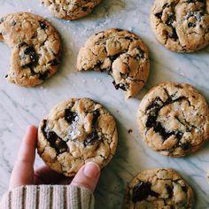 dark chocolate + olive oil cookies