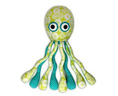 Octopus Plush Sewing Pattern | YouCanMakeThis.com