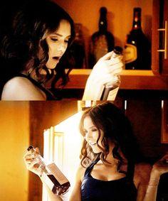 Nina Dobrev | Katherine Pierce Haha me when I see alcohol