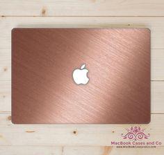 Rose macbook case, Rose Gold Effect MacBook Case. Marble Macbook case.  Top and Bottom Hard Plastic MacBook Case by MacBookCasesandCo on Etsy