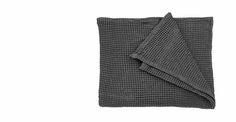 Grove 250 x 260cm 100% Cotton Stonewashed Waffle Bedspread, Charcoal | made.com