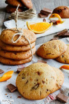 Galletas de chocolate y naranja. Receta de repostería fácil #receta #mexico #postres #dulce Dessert Chef, My Dessert, Köstliche Desserts, Delicious Desserts, Yummy Food, Yummy Cupcakes, Cupcake Cookies, Cupcake Recipes, Cookie Recipes