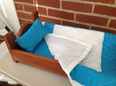 Cherry Doll Bed Fits American girl doll and 18 by MainStCrafts