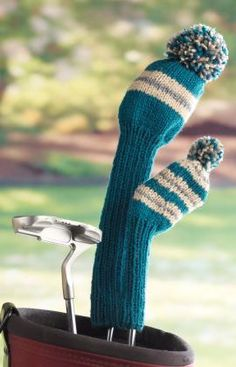 Golf Club Covers - wish I could knit
