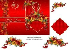 With Love on Valentine's - Valentine's Day Card fronts/sheets now available…