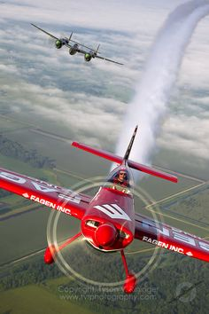 ♂ Red jet in the air Greg Poe flies his bright red high performance MX2 sponsored by Fagen Inc