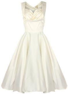 Lindy Bop 'Ophelia' 1950's Pinup Prom Wedding Swing Dress (18, Ivory) Lindy Bop http://www.amazon.co.uk/dp/B00E7P5OM8/ref=cm_sw_r_pi_dp_SAoYtb0HDRT5HYT6