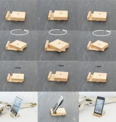 Basamento del telefono,Stand phone tablet, Ipad  di TreeSky su DaWanda.com