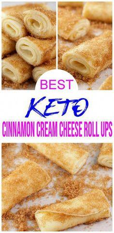 Cream Cheese Roll Up, Cream Cheese Recipes, Cinnamon Cream Cheeses, Easy Cream Cheese Desserts, Cream Cheese Snacks, Keto Cookies, Ketogenic Recipes, Keto Recipes, Ketogenic Diet